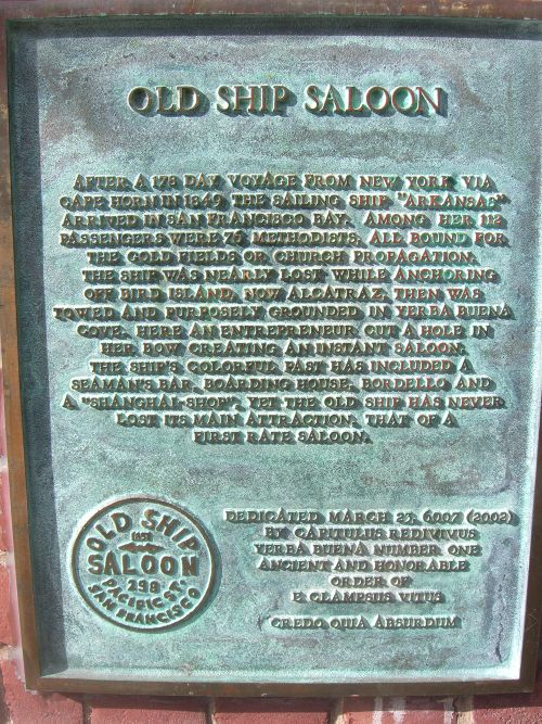 Old Ship Saloon PlaqueS