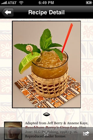 tiki recipes for iphone