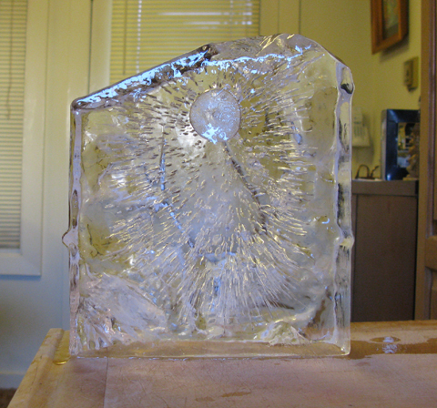 Ice Blocks at Home in an Igloo Cooler