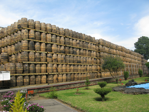 Zacapa aging facility barrel storages