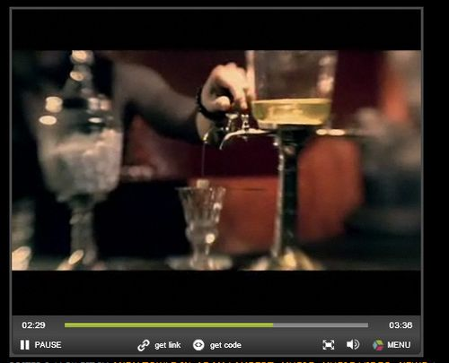Adam Lambert absinthe video fountain for your entertainment