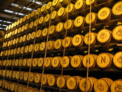 Barrel aging at morrison bowmore