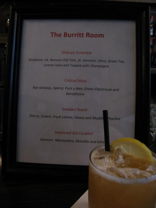 Preopening menu burritt room