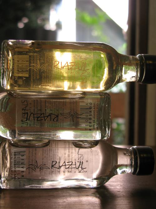 Riazul tequila bottles