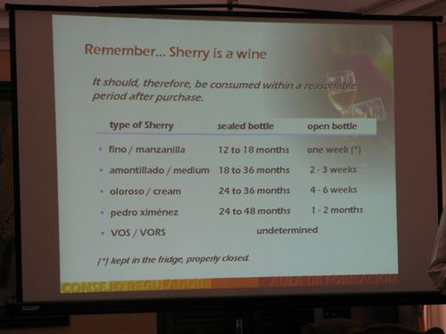 Consejo talk sherry storage times_tn