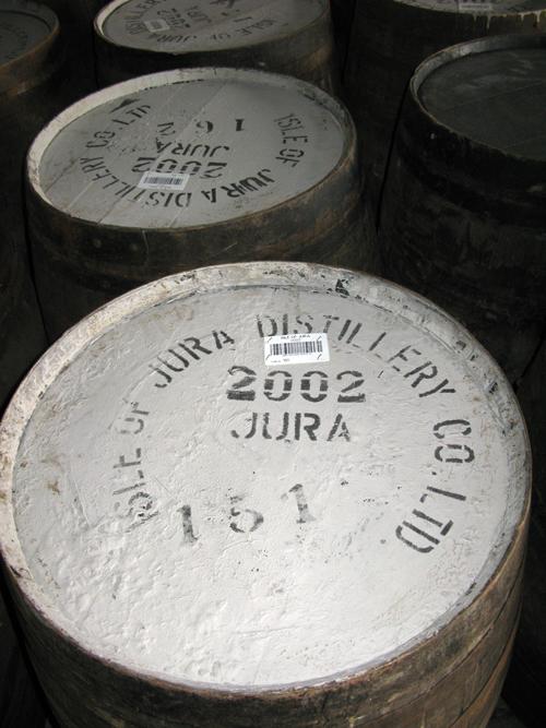 Jura distillery barrelss