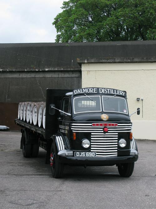 Dalmore Distillery trucks