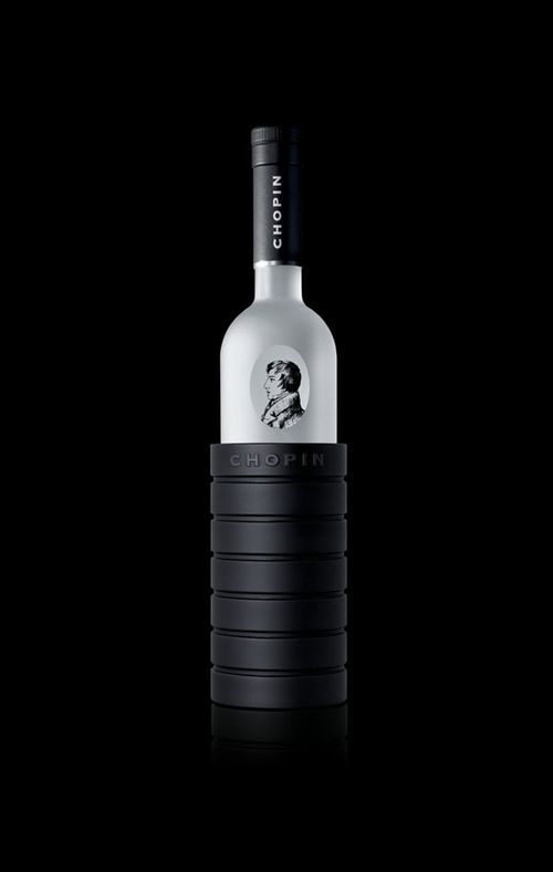 Chopin vodka bottle design