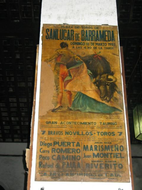 Bodega Hidalgo La Gitana bulfight poster2_tn