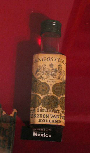 Old bitters bottle Angostura Distillery Museum_tn