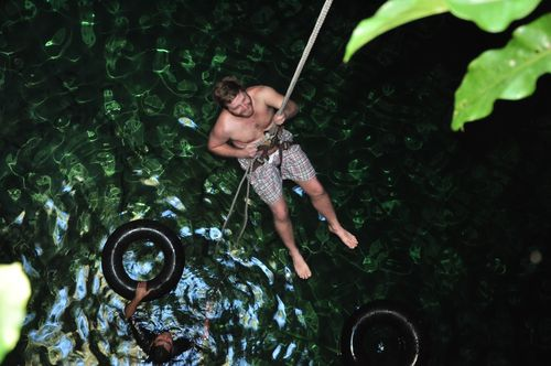 Repelling into cenote