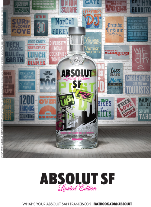Absolut SF Print Ad