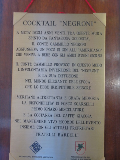 Negroni plaque at Bar Rivoire_tn
