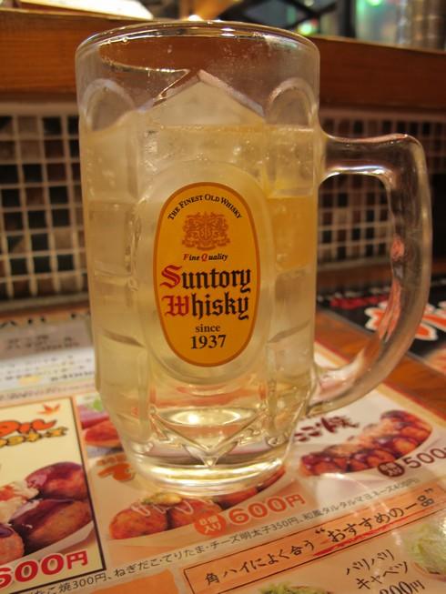 Highball of suntory at gindaka highball bar shinjuko tokyo_tn