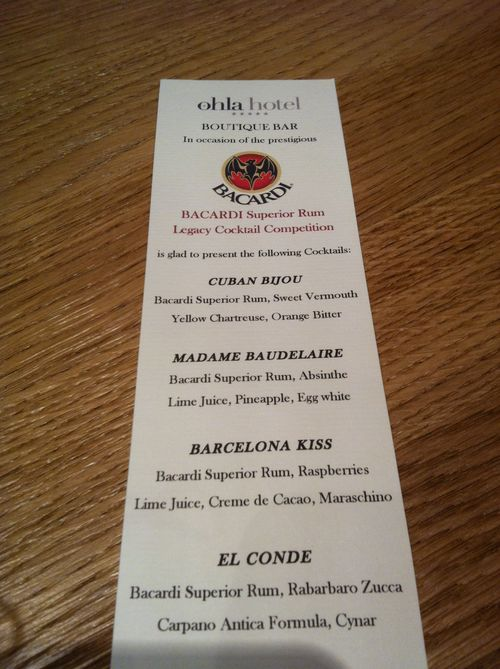 Ohla menu
