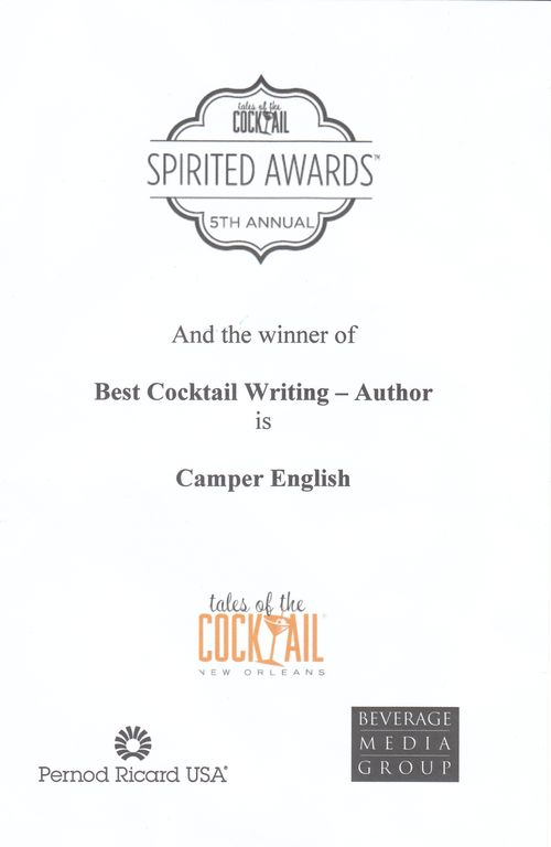 Camper English TOTC Best Writer Award 2011