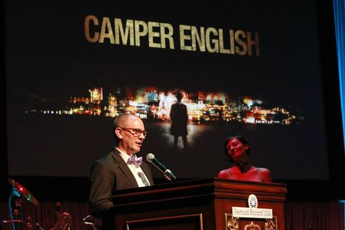 Camper accepting TOTC 2011 award