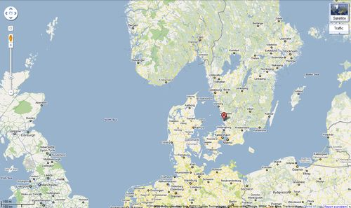 Torekov Cape Bjare Sweden Map