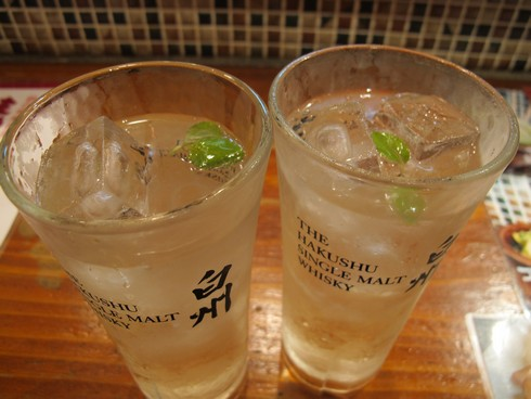 Hakushu 10 mint garnish gindaka highball bar shinjuko tokyo_tn