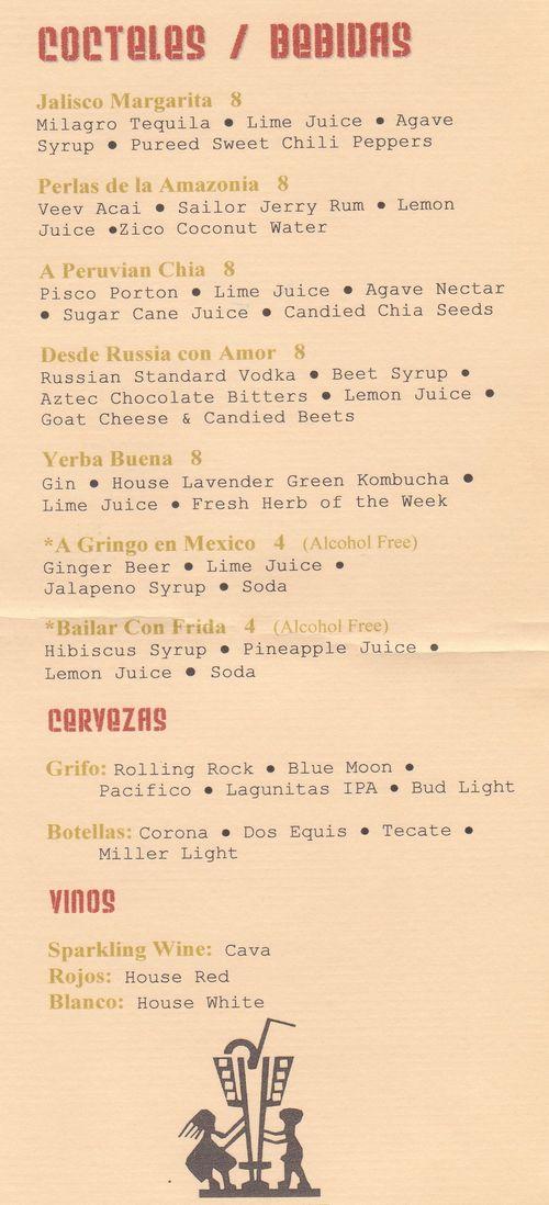 Azucar menu
