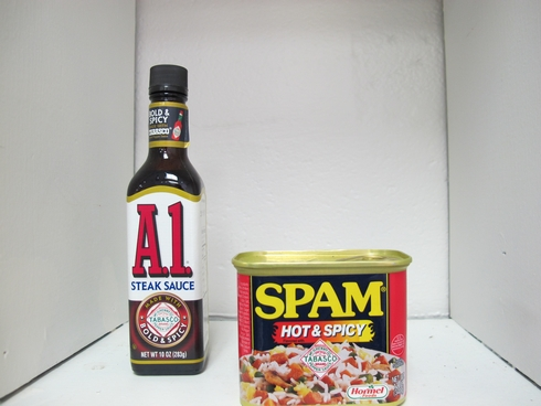 Tabasco spam and A1 steak sauce_tn