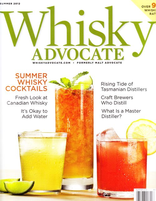 Summer whisky cocktails in whisky advocate magazine for Good whiskey drinks for summer