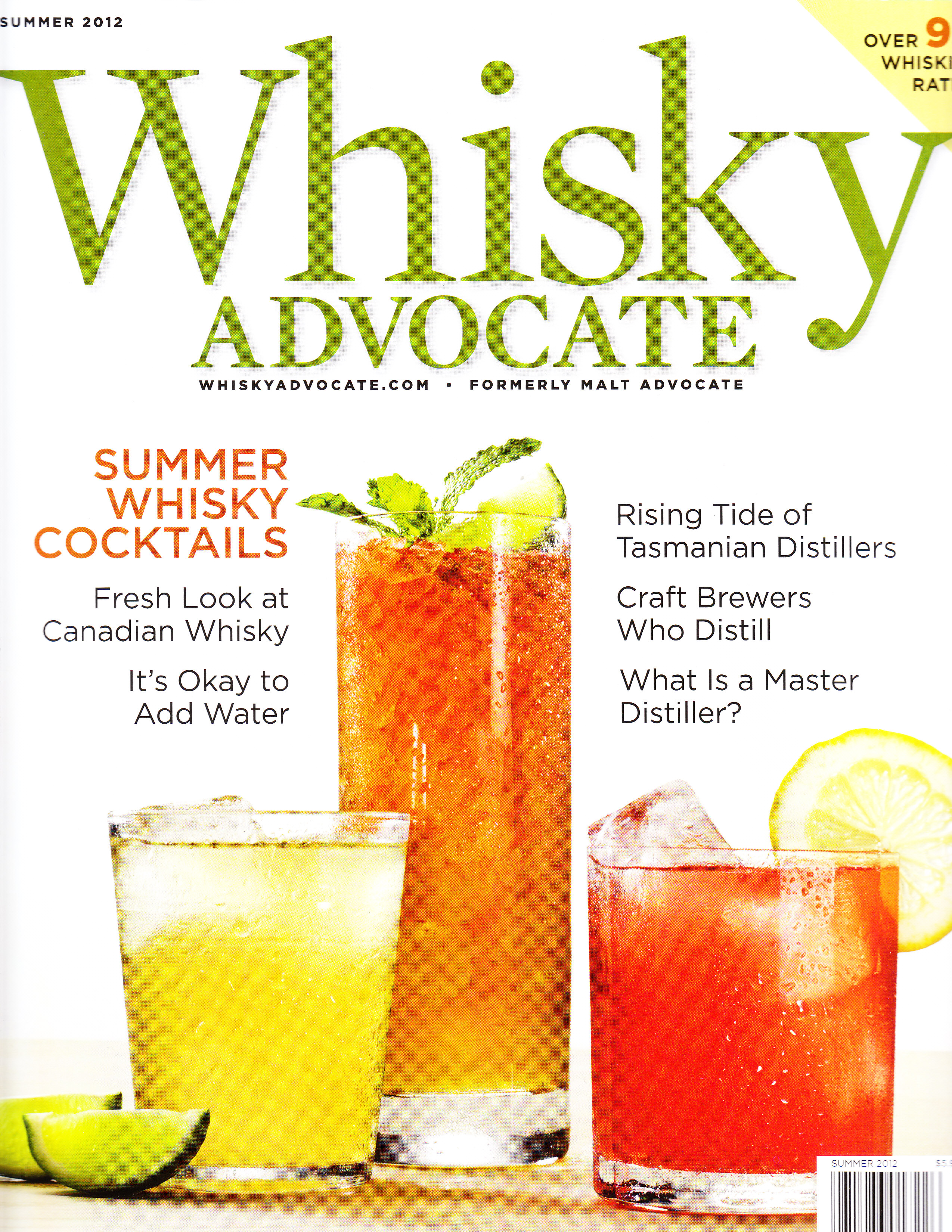 Summer Whisky Cocktails In Whisky Advocate Magazine Alcademics