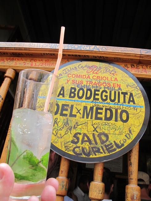 Mojito at la bodeguita del medio bar havana cuba_tn