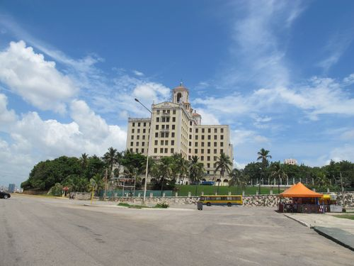Hotel Nacional from Coco Taxi Havana Cuba