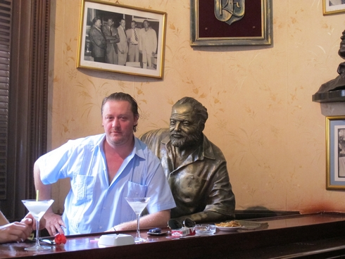 Henry Besant and Hemingway at El Floridita Havana Cuba3_tn