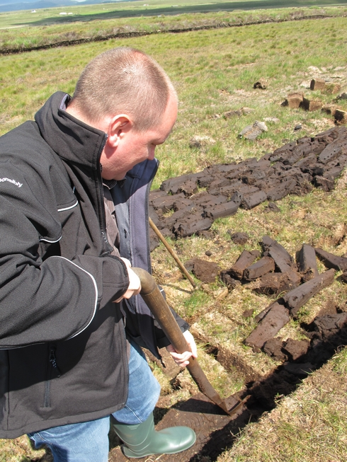 Row of peat Laprhoaig Distillery Islay Scotland2_tn