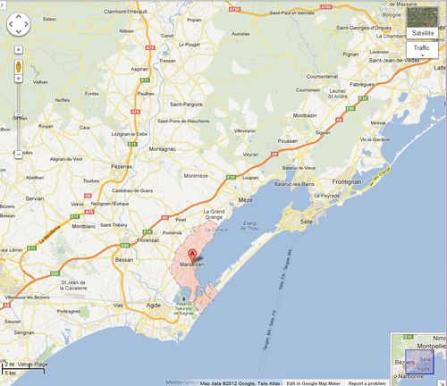 Marseillan france map