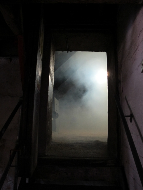 Smoking barley Laphroaig Distillery Islay Scotland_tn