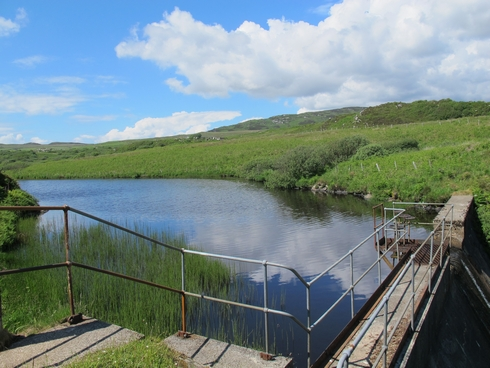 Water source reservoir Laprhoaig Distillery Islay Scotland_tn