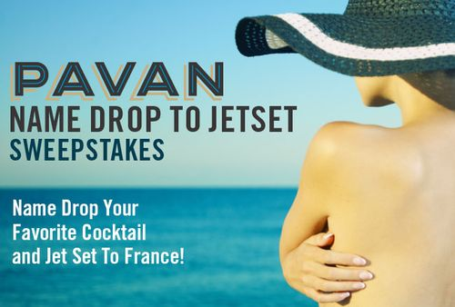 NEW Pavan Email or Blog Cocktail Promo Graphic