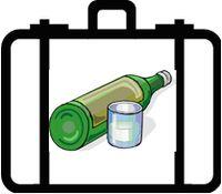 Booze suitcase