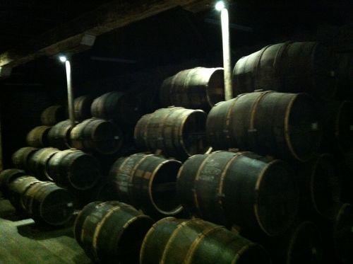 Chateau du Cognac barrels