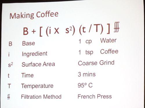 Infusion formula coffee