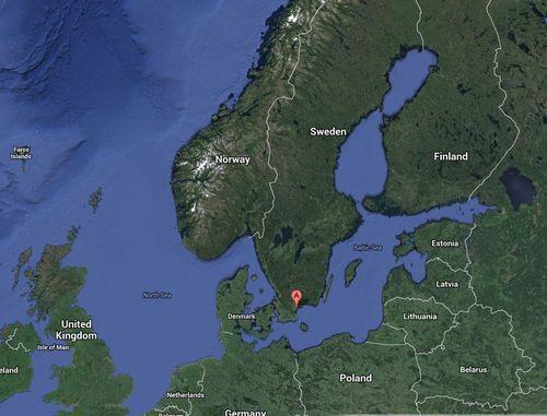 Ahus satelite map