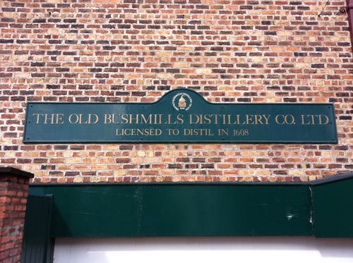 Bushmills sign