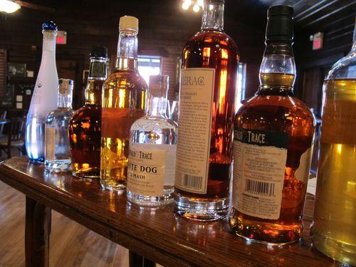 Buffalo Trace Distillery lineup