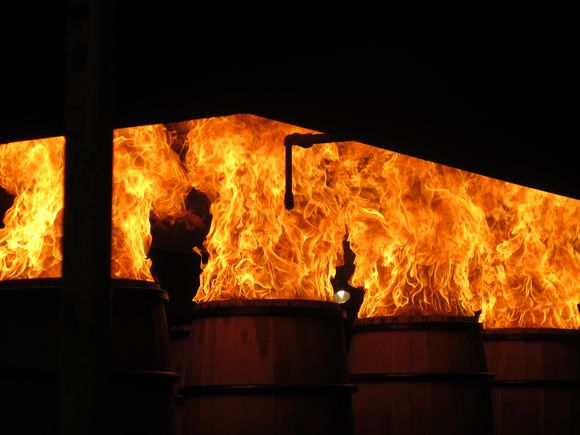 Brown Forman Cooperage barrels charring3