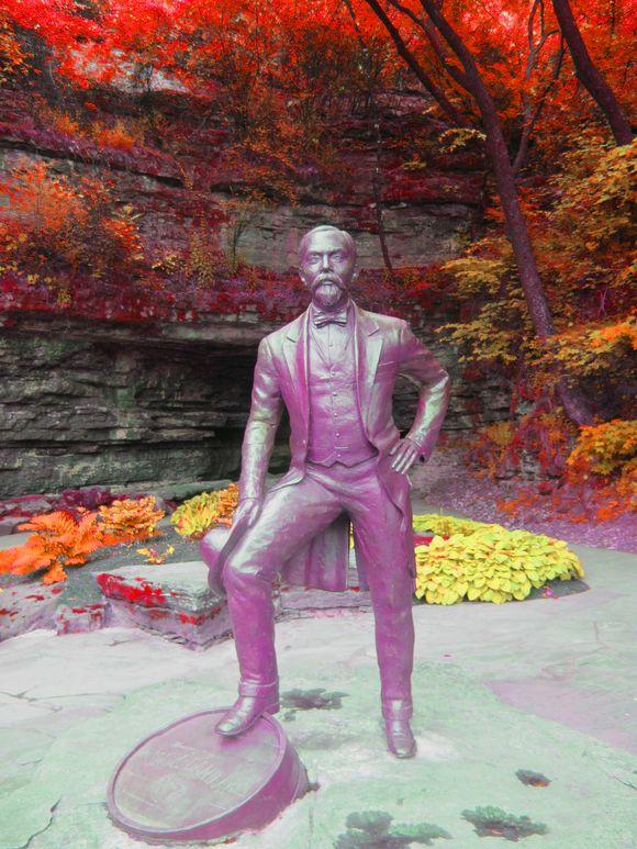 Jack Daniels Distillery Jack Statue COlorized