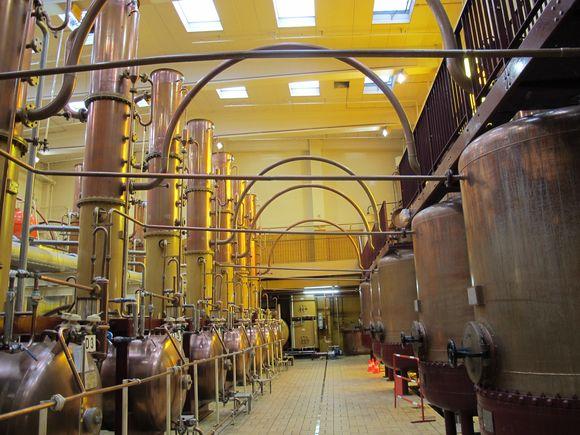 Cointreau distillery stills