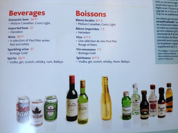 Unlike In The Last Menu, On This One We Can See Pictures Of The Liquor  Brands: Tanqueray Gin, Bacardi Rum, Baileyu0027s Irish Cream, Smirnoff Vodka,  ...