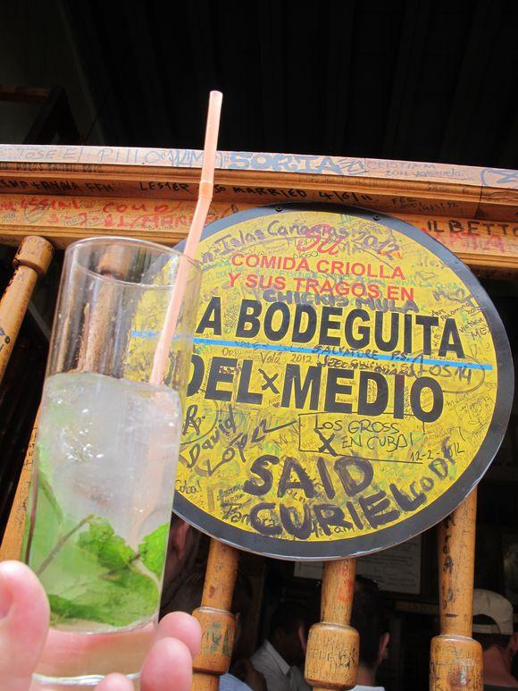 Mojito at la bodeguita del medio bar havana cuba