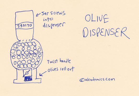 Olive dispenser