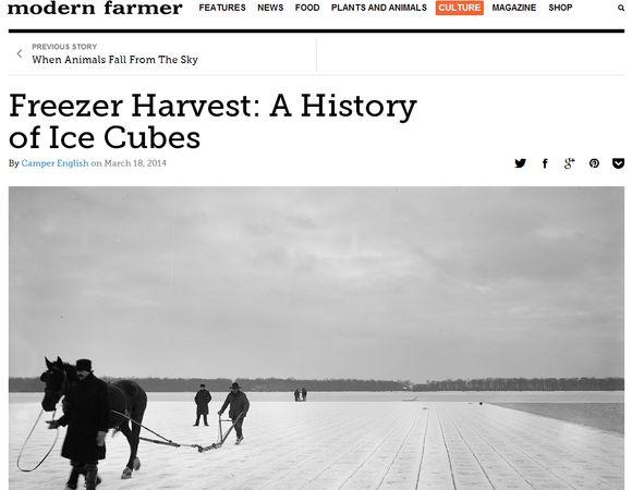 Modern farmer ice story