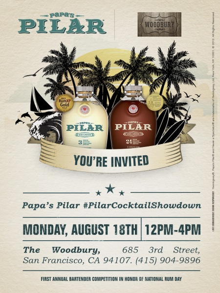 Come To The Papa S Pilar Cocktail Showdown In San Francisco On