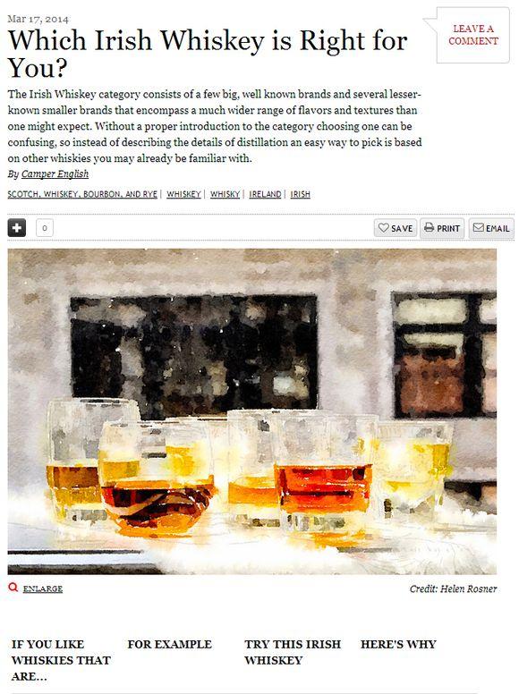 Irish whiskey chart saveur